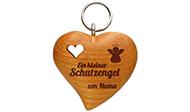 Schlüsselanhänger Holzherz