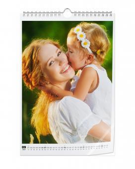Kalender Hochformat A4 | Fotopapier Hochglanz