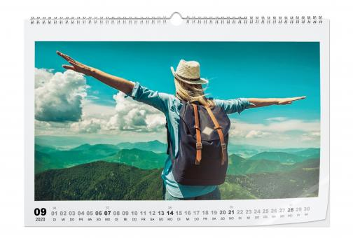 Kalender Querformat A3 | Echtfoto Hochglanz