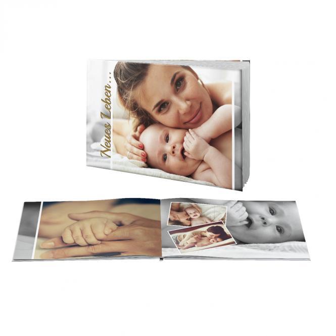 fotodarling Fotobuch Querformat A4 | Hardcover Samtmatt | Echfoto Seidenmatt