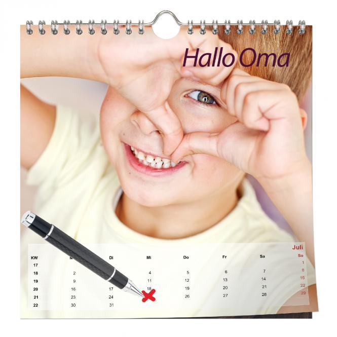 Kalender Quadratisch 20 x 20 cm | Digitaldruck Samtmatt