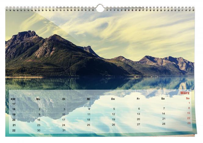 Kalender Querformat A4 | Echtfoto