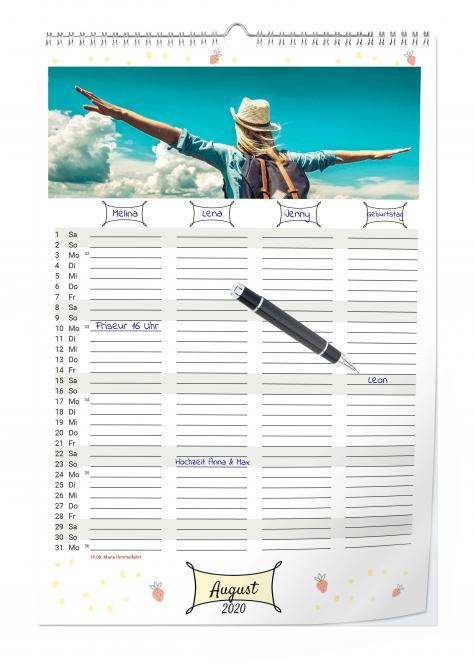 Familienkalender Digitaldruck
