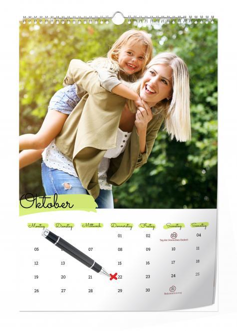 Wandterminkalender Digitaldruck