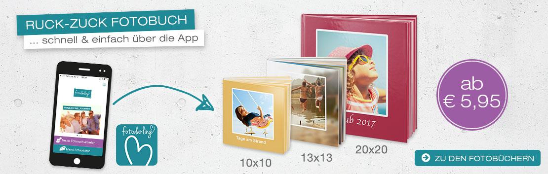 Fotodarling Ruck Zuck schnell und einfach über die App ab 5,95